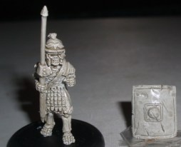 Skeleton Roman Legionary with Pilum & shield