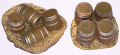 2x Wooden Barrel groups