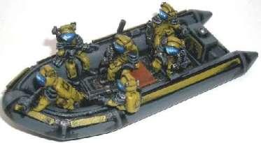 ASP dinghy and 6 crew