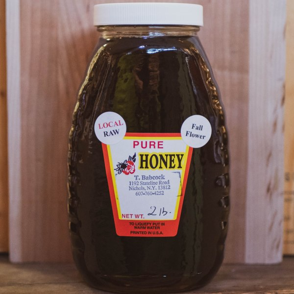 Local-Raw-Pure-Honey-2-Pound-Dark-Fall-Flower-Black-Cat-Gallery-Owego