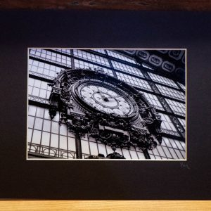 Musée d'Orsay Clock Photography Matted - Black Cat Gallery Owego