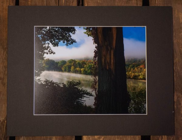 Susquennah-River-at-Hickories-Park-Photography-Matted-Black-Cat-Gallery