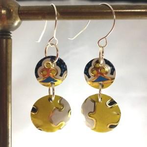 yellow sterling earrings