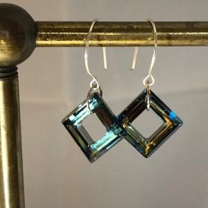sterling silver swarovski earrlings
