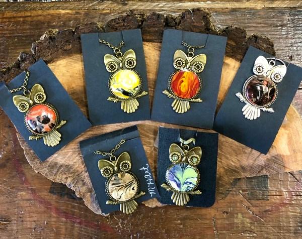 owl necklace pendant