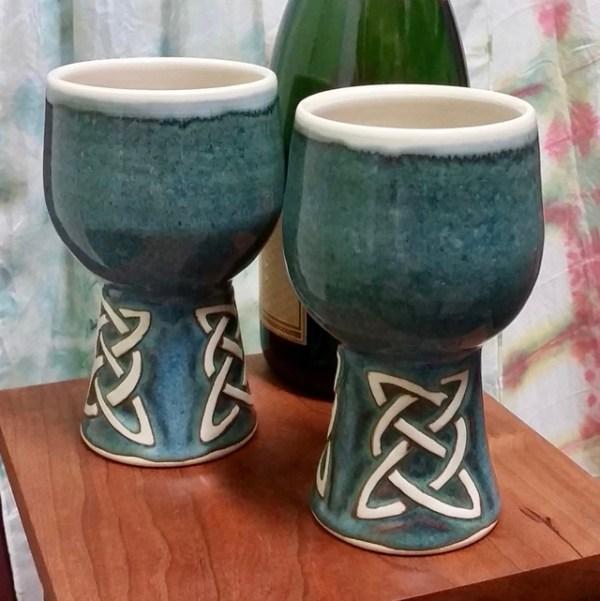 Celtic pottery goblet