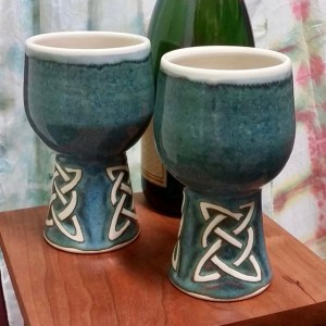 Celtic pottery goblet