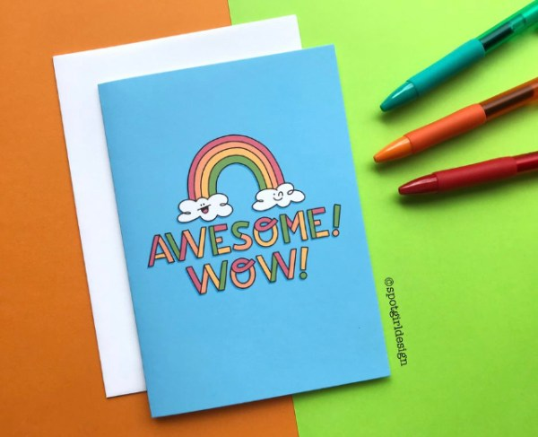 Awesome! Wow! notecard