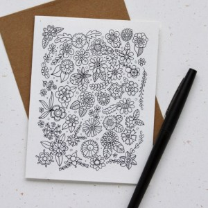 Doodle Flower Note Card