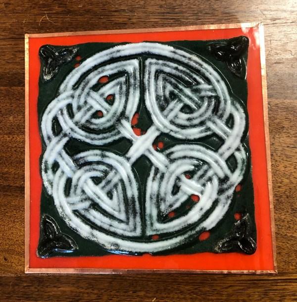 Glass Celtic Trivet
