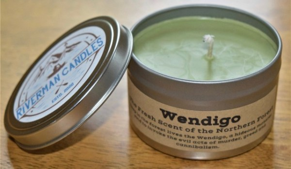 Wendingo soy candle, scents of the forest