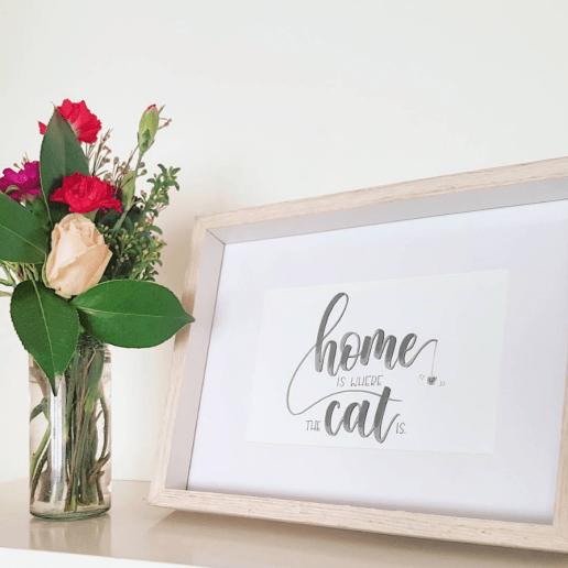 Original hand lettered print