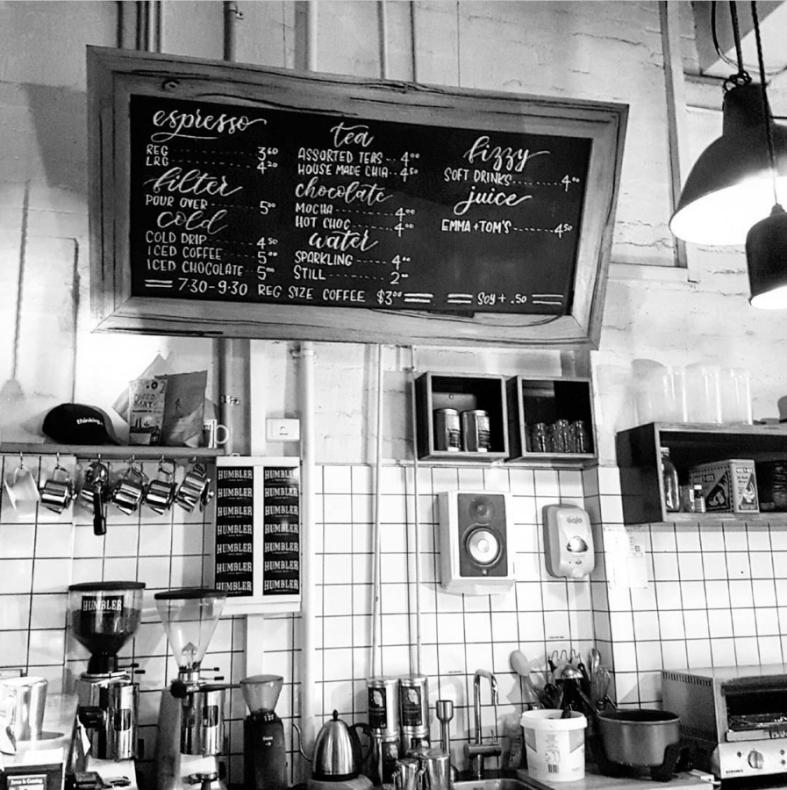 Chalkboard for The Little Mule Cafe
