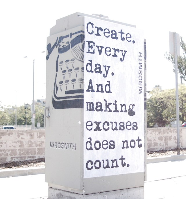 Create Every Day - WRDSMTH / Black Chalk Magazine