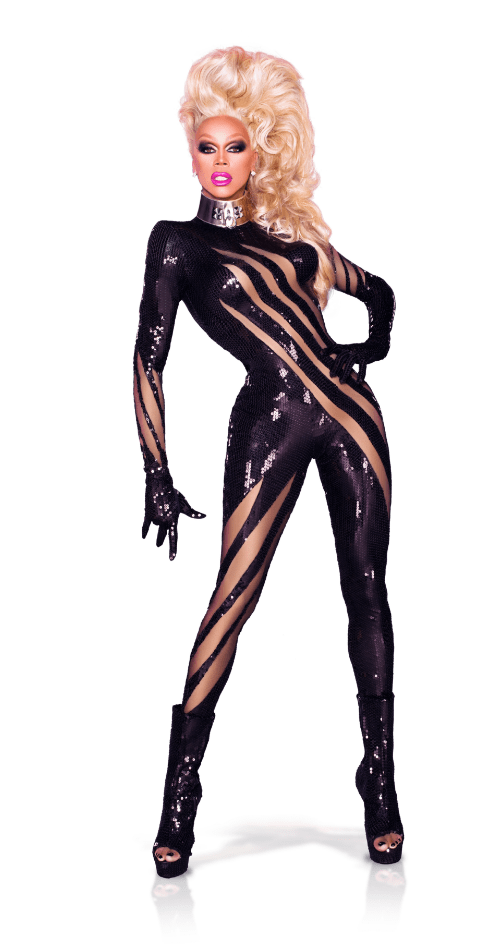 """This black sequin catsuit has the illusion of having been clawed; it's just so chic and ferocious at the same time. "" RuPaul"