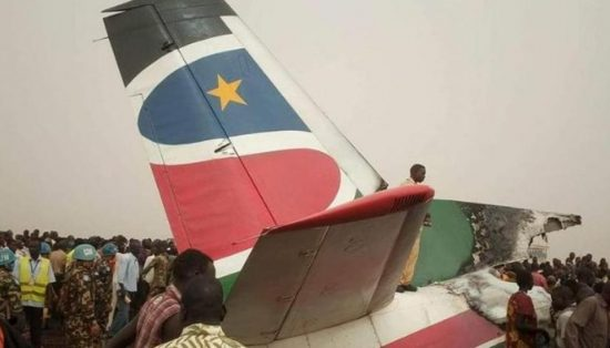 A plane crash-landed at an airport in South Sudan, injuring several people. (Photo credit: AIRLIVE Twitter)