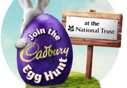 2017 ad for the Cadbury egg hunt at National Trust properties in England.