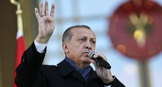 Recep Tayyip Erdogan's historic constitutional referendum claimed victory Sunday by a margin of 51.4 to 48.6 percent. | AP Photo
