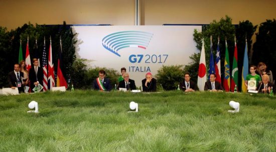 Italy's Minister of the Environment Gian Luca Galletti (C) attends a summit of  Environment ministers from the G7 group of industrialised nations in Bologna, Italy, June11, 2017. REUTERS/Max Rossi