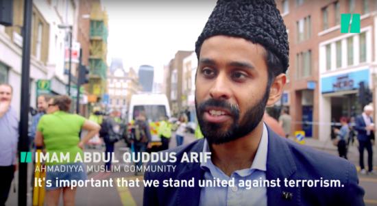 Imam Abdul Quddus Arif from the local Ahmadiyya Muslim community speaks out against Islamic extremism.
