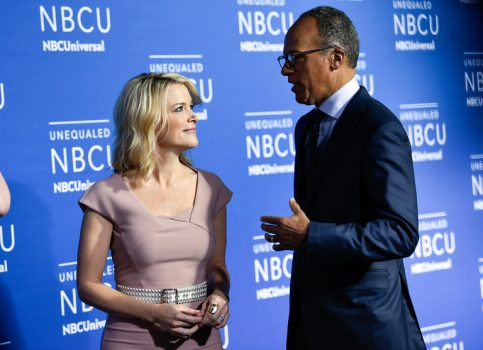 The NBC anchors Megyn Kelly and Lester Holt attended NBCUniversal's upfront presentation at Radio City Music Hall in May. (Credit: Evan Agostini/Invision, via Associated Press)