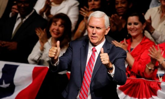 The hacking of Pence's private emails led some to raise questions of hypocrisy after he frequently attacked Clinton on the campaign trail. Photograph: Joe Skipper/Reuters