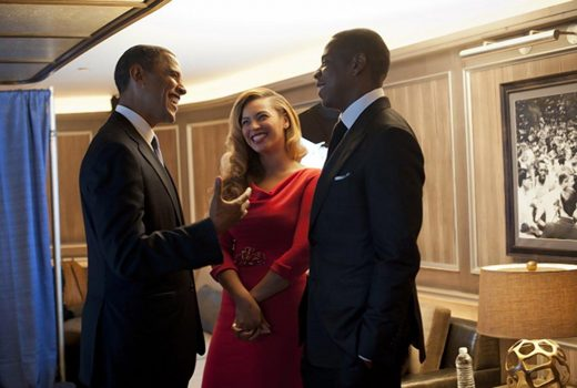 Former President Obama could have hinted at the sexes of Jay Z and Beyoncé's twins. (@BARACKOBAMA)