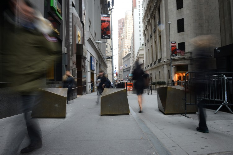 Wall Street in New York. (Anthony Behar/Sipa USA)