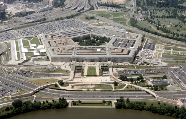 An aerial view of the Pentagon just over the river from Washington. (Jason Reed/Reuters)