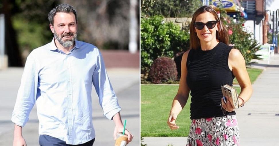 Ben Affleck and Jennifer Garner arrive for morning church service in Pacific Palisades, California on October 15, 2017. BACKGRID