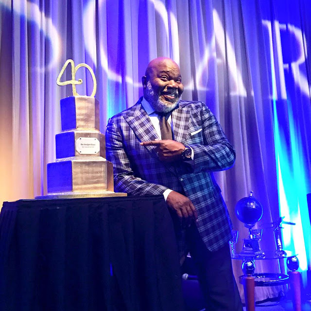 "Bishop T.D. Jakes at a celebration for the release of ""Soar"""
