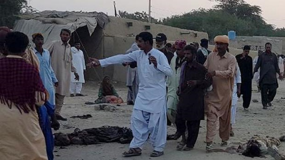 A suicide bombing at a shrine in southwest Pakistan killed 16 people and wounded more than 30. (Picture: Xinhua/Stringer)