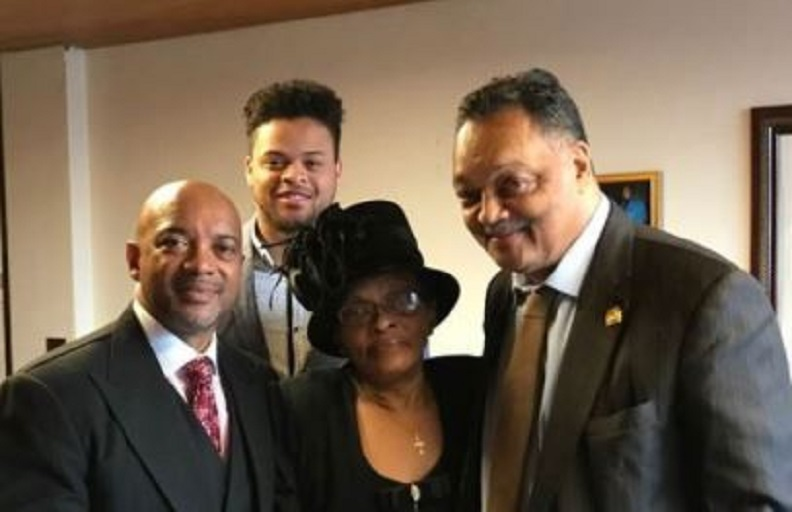 The Rev. Jerry McAfee and others met with noted civil rights figure Jesse Jackson on Sunday at McAfee's north Minneapolis church.