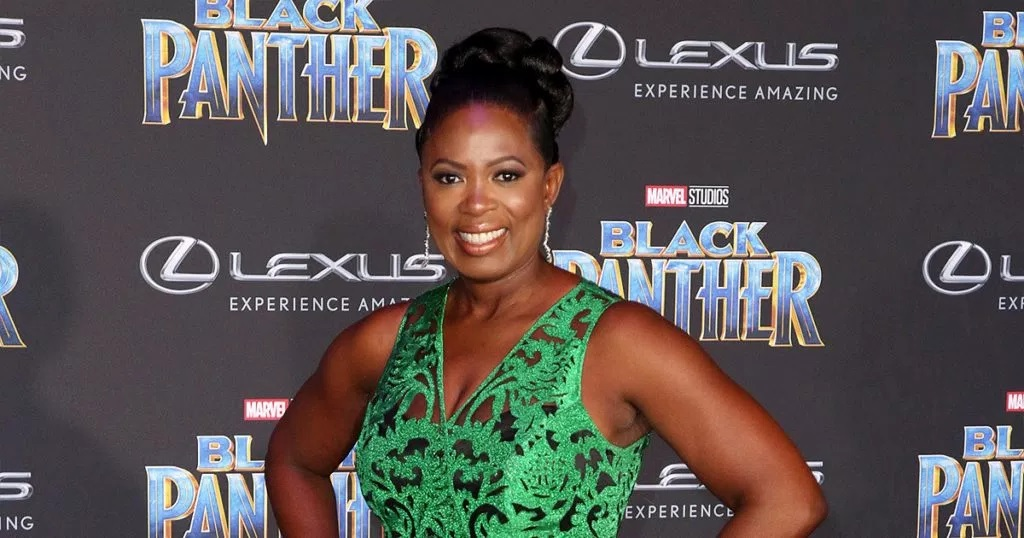 Sope Aluko attends World Premiere of Marvel Studios' Black Panther at Dolby Theatre in Los Angeles, California (Credit: Brian To/WENN.com)