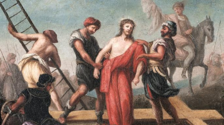 """Academics said Romans stripped and """"violated"""" Jesus before his crucifixion (GETTY IMAGES)"""