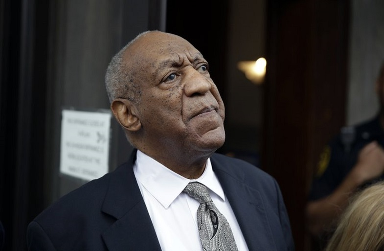 """In this June 17, 2017, file photo, Bill Cosby exits the Montgomery County Courthouse after a mistrial was declared in Norristown, Pa. On Thursday, March 15, 2018, a judge agreed to let five additional Cosby accusers testify at his April 2 sexual assault retrial, giving prosecutors a chance to portray the man once known as """"America's Dad"""" as a serial predator who made a habit of drugging and molesting women. (AP Photo/Matt Rourke, File)"""
