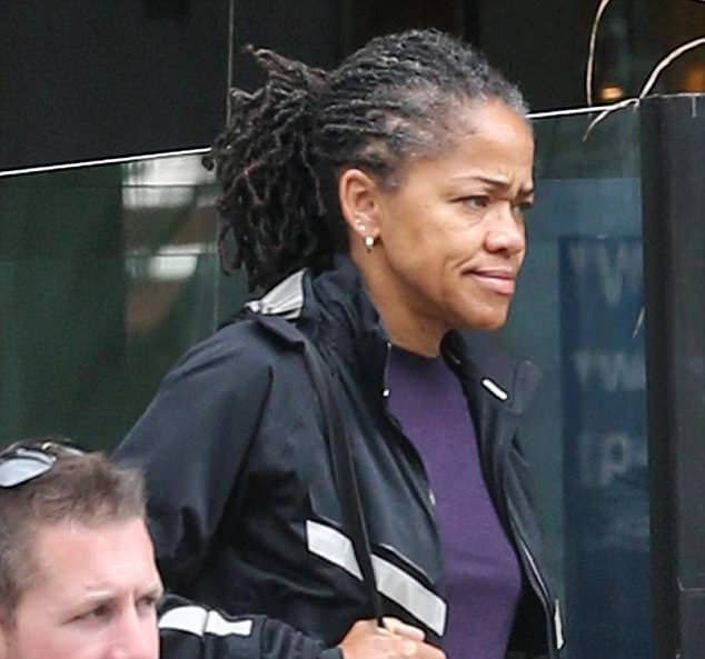 Namaste: Doria Ragland (above) headed out to yoga on Sunday in Los Angeles after returning home from London late last week.