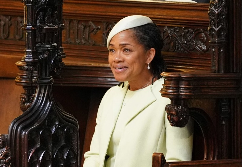 Through her presence, Meghan Markle's mother, Doria Ragland, implied a lineage of black women—and represented the fraught lineage of a nation. (Photograph by Dominic Lipinski / WPA / Getty)