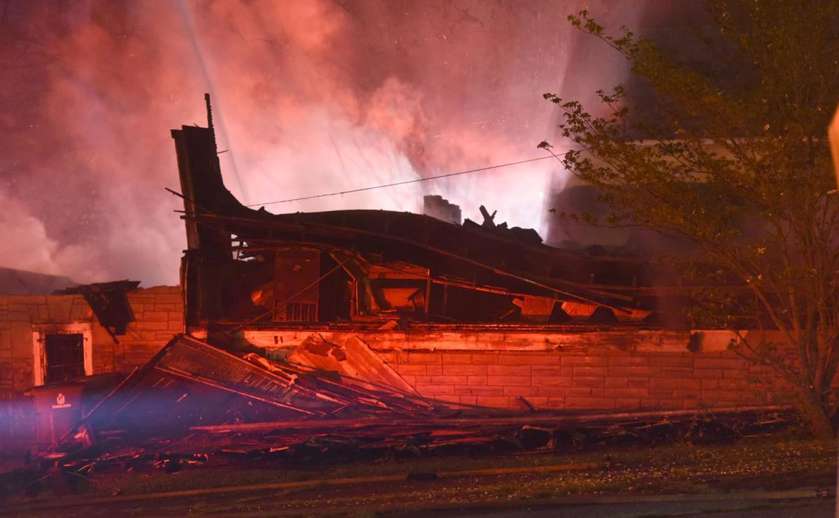 Witnesses said the church's roof collapsed about 3:30 a.m. Monday. (Walt Unks/Journal)