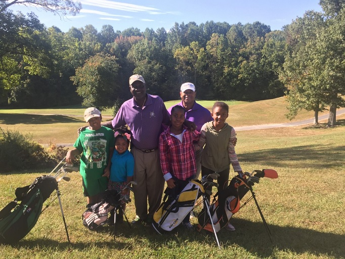 "Craig Kirby, back right, with participants in ""Golf. My Future. My Game."" (Courtesy, Craig Kirby)"