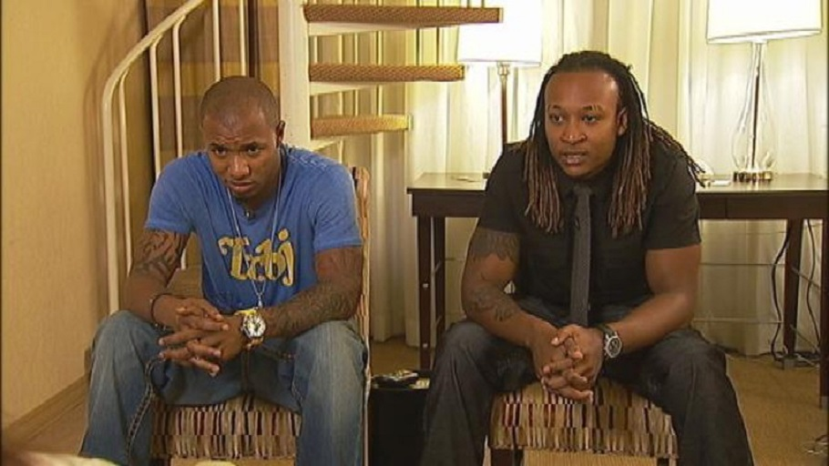 Jamal Parris and Spencer LeGrande were among four young men who accused Bishop Eddie Long of sexual coercion in 2010. Their lawsuit against him was settled in May 2011. (Channel 2 Action News) (The Atlanta Journal-Constitution)