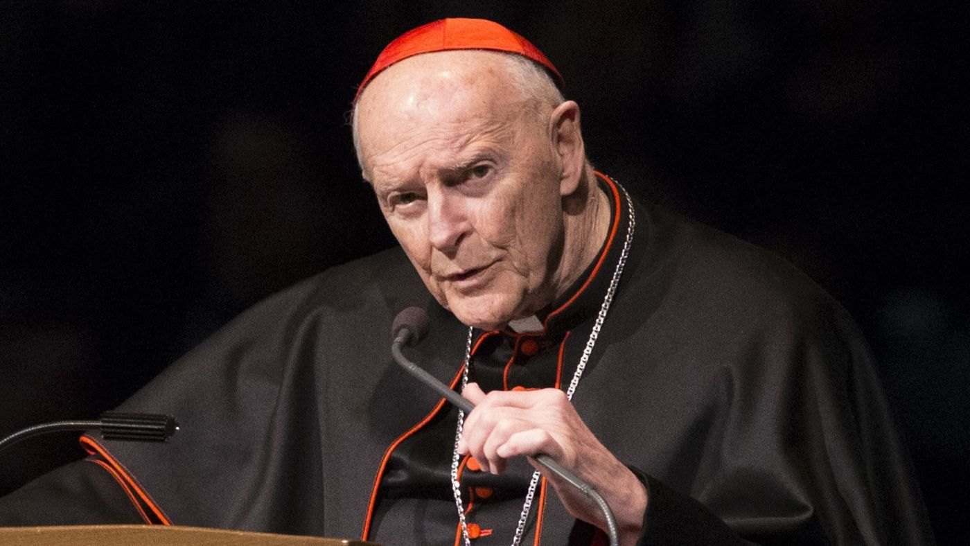 Cardinal Theodore McCarrick speaks during a memorial service in South Bend, Ind. on March 4, 2015. (Robert Franklin / Associated Press)