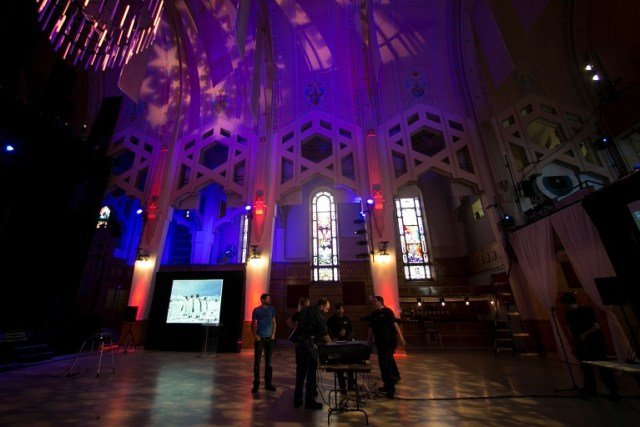 The Notre-Dame-du-Perpétuel-Secours church in Montreal has been transformed into the Théâtre Paradoxe at a cost of nearly $3 million in renovations. (Credit: Christinne Muschi for The New York Times)