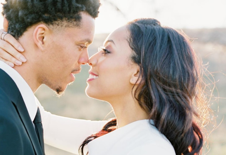 Damion Lee and Sydell Curry tie the knot.