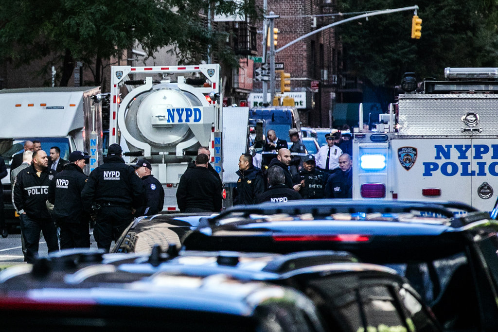 CNN's offices in Manhattan were evacuated after an explosive device was sent there, a law enforcement official said. (Credit: Jeenah Moon for The New York Times)