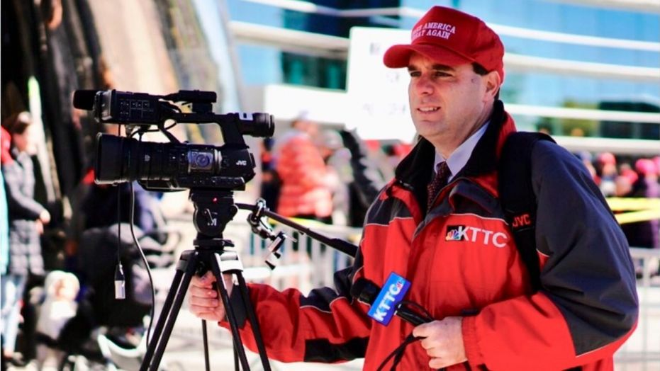 A NBC station reporter was fired for wearing a 'Make America Great Again' hat while covering a Trump rally in Rochester, Minnesota.