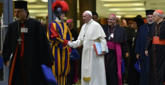 Pope Francis is attending the Synod of Bishops, focusing on Young People, the Faith and Vocational Discernment.