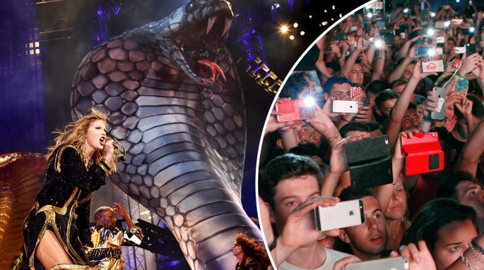 Performers such as Taylor Swift want sets that will appear impressive on Instagram (ALAMY)