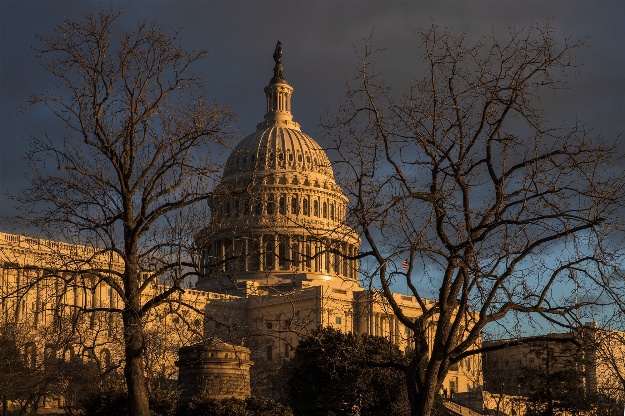 The Capitol during the partial government shutdown in Washington on Jan. 24, 2019. (J. Scott Applewhite / AP)