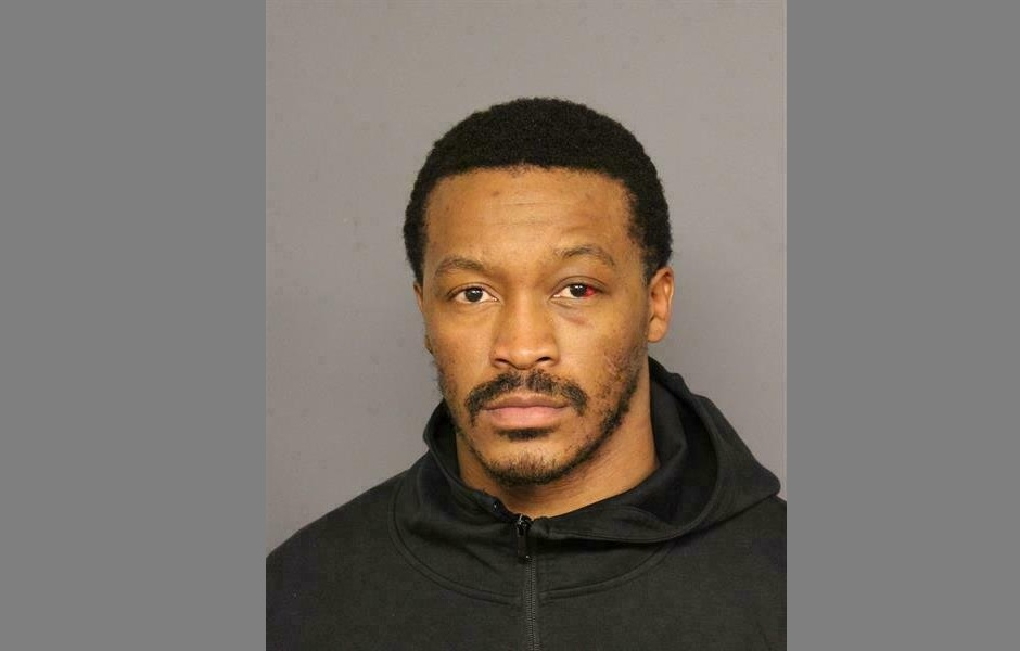 This photo provided by the Denver Police shows Demaryius Thomas. Veteran NFL wide receiver Demaryius Thomas has been arrested after being involved in a rollover crash earlier this month. According to Denver jail records, Thomas was arrested Wednesday, Feb. 27, 2019, on allegations of vehicular assault, reckless driving and not having insurance. (Denver Police via AP)